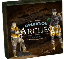 Boîte du jeu de société éducatif Opération Archéo
