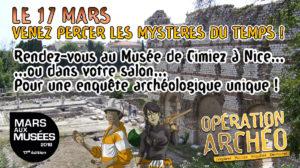 Annonce Mars aux Musées Scénario Opération Archéo